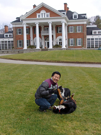 Jinny_and_the_dogslangdon_hall
